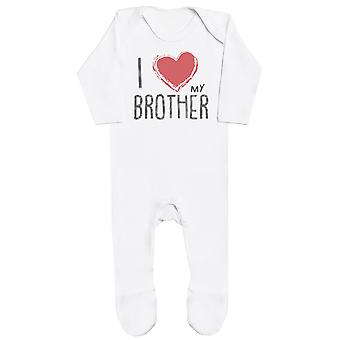 I Love My Brother Red Heart Baby Romper