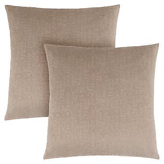 "18"" x 18"" Taupe, Mosaic Velvet - Pillow 2pcs"