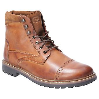 Base London Mens Quail Burnished Lace Up Brogue Boot