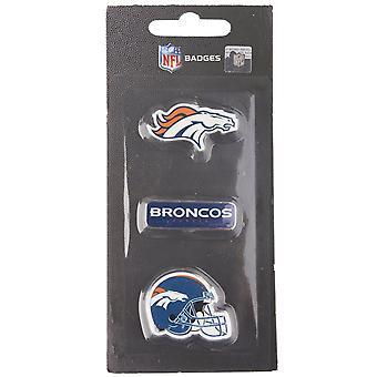 Denver Broncos NFL Pin Badge Pin Set of 3