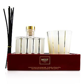 Nest Holiday Coffret: Reed Diffuser 175ml/5.9oz + Scented Candle 230g/8.1oz - 2pcs