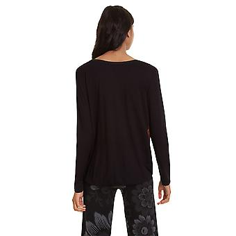 Desigual Women's Bridget Långärmad Draperad Tshirt