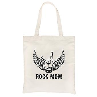 Rock Mom Canvas Shoulder Bag Cute Mother's Day Gift Funny Mom Gift
