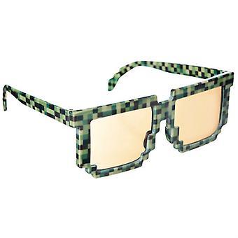 Okulary okulary pikseli pikseli okulary zielony zabawa