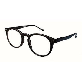 Optiali Retro Reading glasses +1.00 Color Black