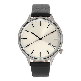 Simplify The 6700 Series Strap Watch -Black/Silver