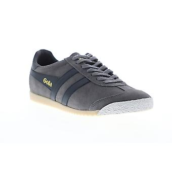 Gola Harrier 50 Suede  Mens Gray Lace Up Low Top Sneakers Shoes