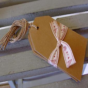 East of India Kraft Style Luggage Tags Pour Emballage cadeau