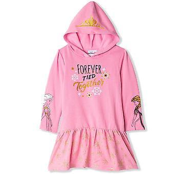 Girls HS1456 Disney Frozen Long Sleeve Hooded Dress