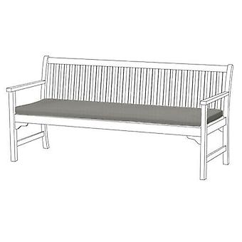 Grey Large 4 Seater Bench Swing Garden Pad Floor Cushion Outdoor Water Resistant