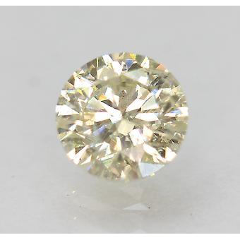 معتمد0.50 قيراط K SI1 جولة رائعة تعزيز الماس الطبيعي فضفاض5.1mm