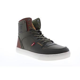 Levis Mason HI 501 Core  Mens Green Canvas High Top Sneakers Shoes