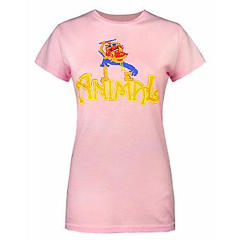 The Muppets Animal Drummer Pink Women's T-Shirt By Worn