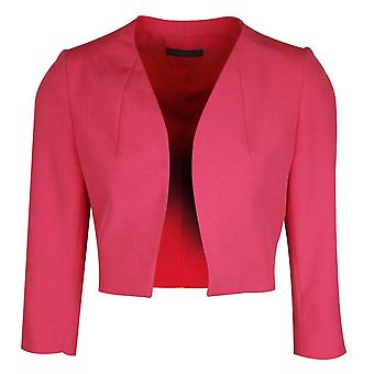 Michaela Louisa Fuchsia Pink Long Sleeve Jacket With Shoulder Pads
