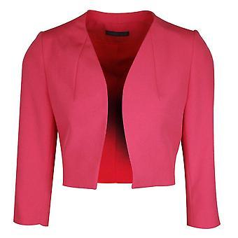 Michaela Louisa Fuchsia Pink Long Sleeve Jacket With Shoulder Pads
