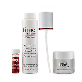 Hydrating & glow renewing duo: time in a bottle serum+activator+renewed hope in a jar 236299 3pcs
