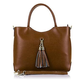 FIRENZE ARTEGIANI. Women's bag in real leather. Suave acabados RUGA tacto TOTE luxury bag in real leather. Luxury leather fringe pattern. MADE IN ITALY. REAL ITALIAN SKIN. 32x25x11 cm. Color: leather