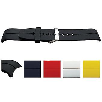 Sports and leisure rubber watch strap curved ends, polyurethane