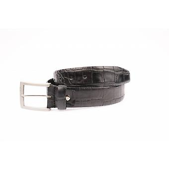 Beautiful Black Croco Pantalon belt