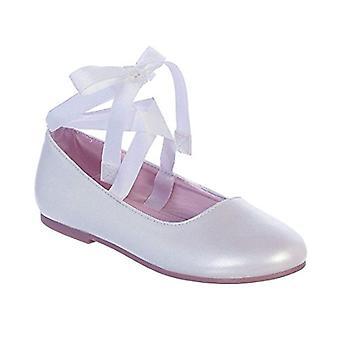 iGirldress Girls Ribbon Ankle Tie Matte Mary Jane Ballerina Flats Shoes 9 Tod...