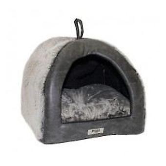 Yaguar plata espuma iglú (perros, ropa de cama, iglús)