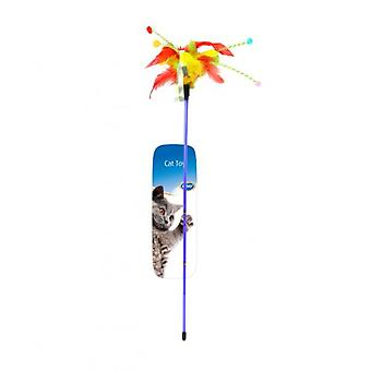 Duvo+ Cane Cat Toy With Feathers 62 X 3 X 1.5 Cm (Cats , Toys , Teaser Wands)