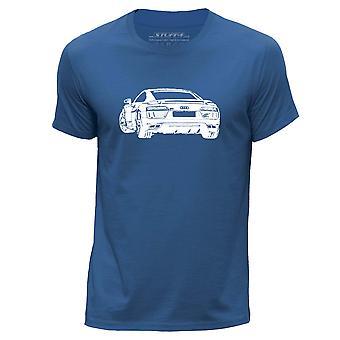 STUFF4 גברים ' s צוואר עגול חולצת טריקו/שבלונה לאמנות רכב/R8 2016/רויאל בלו