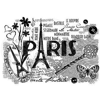 "Woodware Clear Stamp Set 4""x6"" - Paris Postcard"