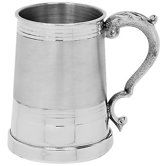 Worcester satin Band Pewter Tankard-1 halbă