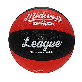 Midwest League Outdoor Recreational Rubber Basketball Ball Noir/Rouge