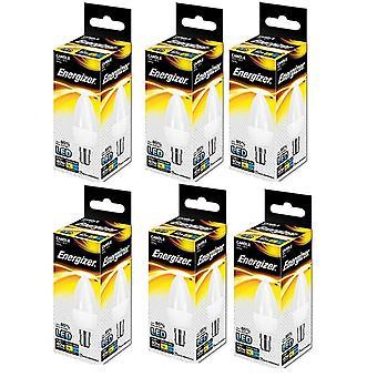 6 x Energizer B15d 6 W, 1 LED SBC (casquillo de bayoneta pequeña) bulbo de la vela [clase energética A +]