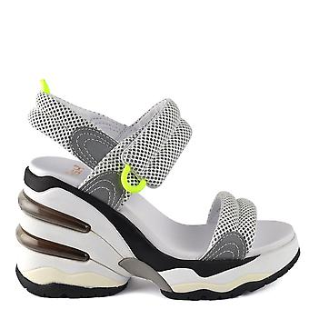 Ash COSMOS Wedge Trainer Sandals White Mesh