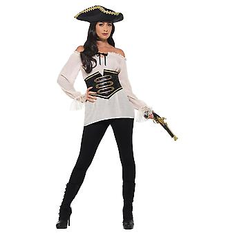 Chemise pirate ivoire luxe femme