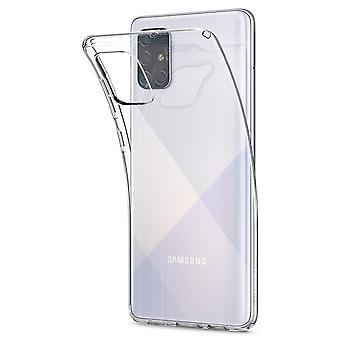 Hull For Samsung Galaxy A71 Liquid Crystal Transparent
