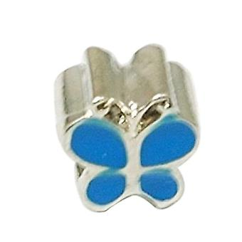 TOC beadz Blue Butterfly 9mm Slide-On-Off-Charme-Korn