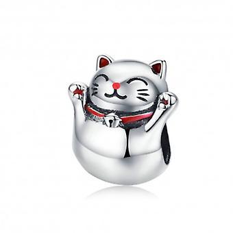 Sterling Silver Charm Maneki Neko - 6196