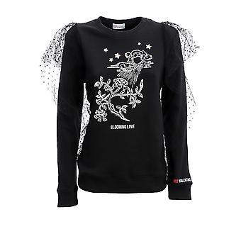 Red Valentino Tr3mf03f4uy0no Women's Black Cotton Sweatshirt