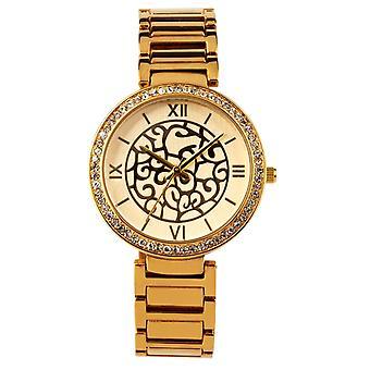Eton fashion Watch, Diamante Bezel, Boyfriend Style, Filligree Dial 3242J-GD