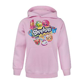 Shopkins Once You Shop Characters Pink Girl's Hoodie