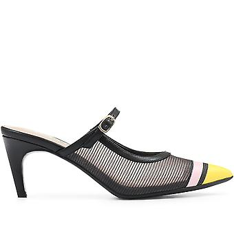 Staccato Womens Pointed Heeled Mary Jane Mule
