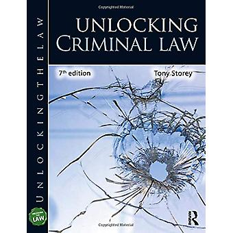 Unlocking Criminal Law by Tony Storey - 9780367244736 Book