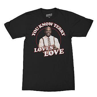 Brooklyn Nine-Nine Terry Loves Love Men's T-shirt