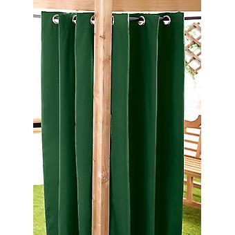Verde 140 x 210cm Cortina al aire libre ojal Panel Jardín Decoración Drape Patio Shade