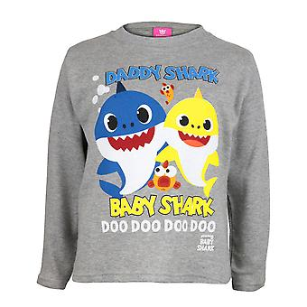 Baby Shark And Daddy Shark Boys Long Sleeve T-Shirt | Official Merchandise