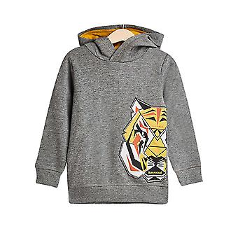 Esprit Boys' Cotton Hoodie With A Tiger Print