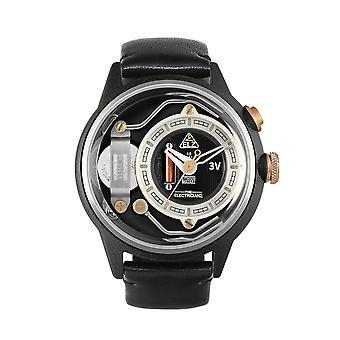 The Electricianz ZZ-A1C-01 The Dresscode Black Strap Wristwatch