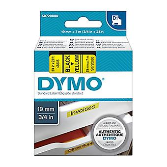 Dymo D1 Blk On Yell 19 mm x 7 m bande