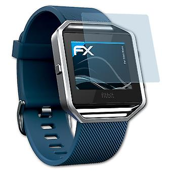 atFoliX 3x Screen Protector yhteensopiva Fitbit Blaze Screen Protection Film kirkas