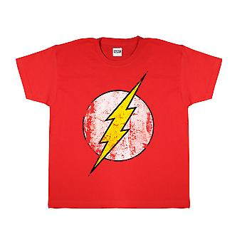DC Comics The Flash Distressed Logo Boys T-Shirt | Official Merchandise