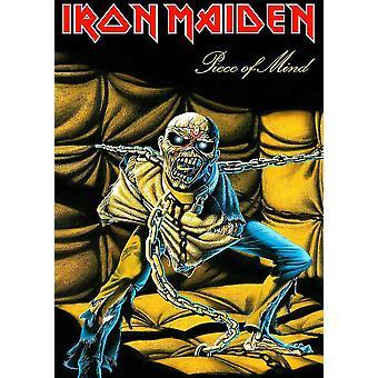 Iron Maiden Poster textiel vlag stuk van geest Logo ambtenaar zwart 70 x 106 cm